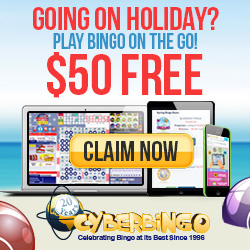 $25 Free to try CyberBingo. 1500% Welcome Bonus Package