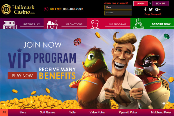 Hallmark Casino Free Spins